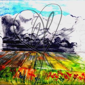 """Skizze """"Gewitter#1"""" 2020 von Katrin Firtzlaff"""