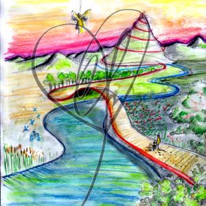 "Illustration ""Roter Faden"" 2020 von Katrin Firtzlaff"